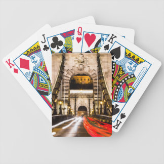 Budapest Chain Bridge Bicycle Playing Cards