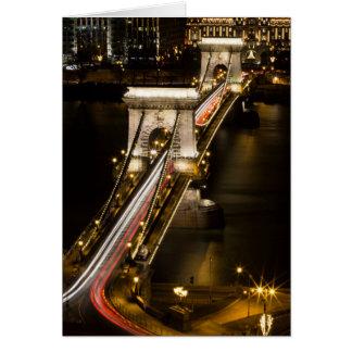Budapest Chain Bridge Card