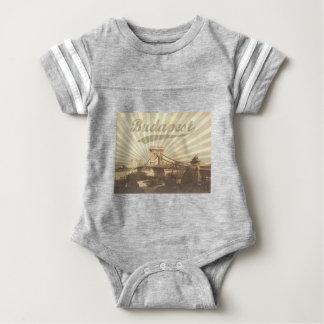 Budapest Chain Bridge Vintage Baby Bodysuit