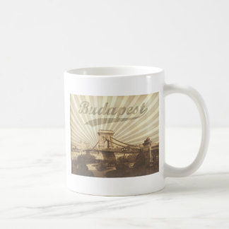 Budapest Chain Bridge Vintage Coffee Mug
