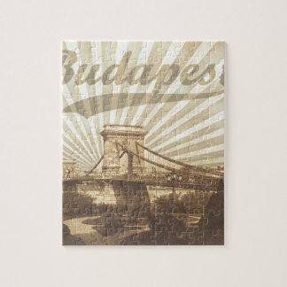 Budapest Chain Bridge Vintage Jigsaw Puzzle