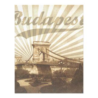 Budapest Chain Bridge Vintage Letterhead