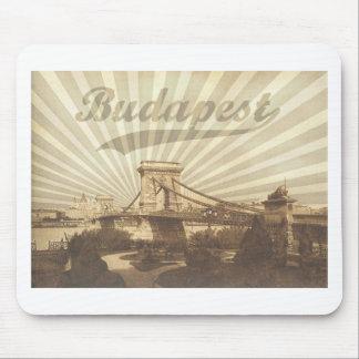 Budapest Chain Bridge Vintage Mouse Pad