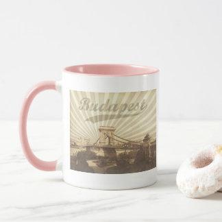 Budapest Chain Bridge Vintage Mug