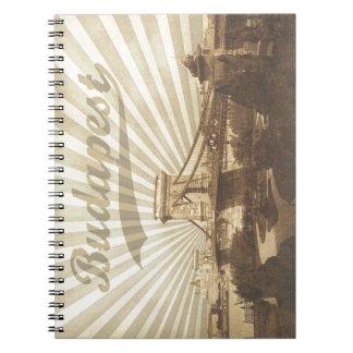 Budapest Chain Bridge Vintage Notebook