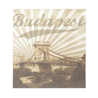 Budapest Chain Bridge Vintage Notepad