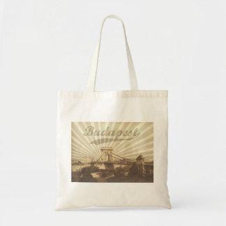 Budapest Chain Bridge Vintage Tote Bag