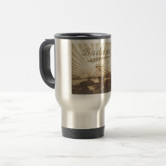 Budapest Chain Bridge Vintage Travel Mug