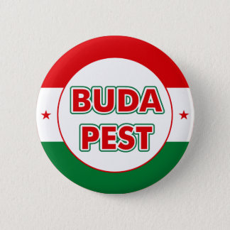 Budapest, circle, color 2 inch round button
