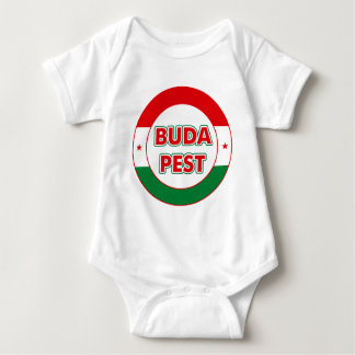 Budapest, circle, color baby bodysuit