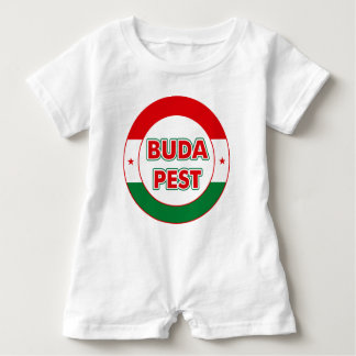 Budapest, circle, color baby romper