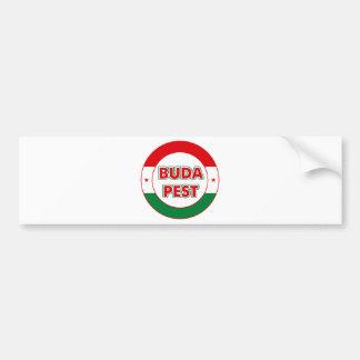 Budapest, circle, color bumper sticker