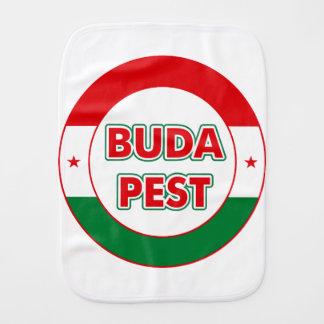 Budapest, circle, color burp cloth