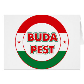 Budapest, circle, color card