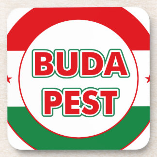 Budapest, circle, color coaster