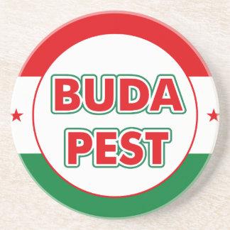 Budapest, circle, color coaster