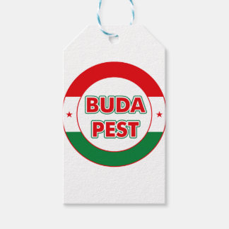 Budapest, circle, color gift tags