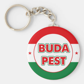 Budapest, circle, color keychain