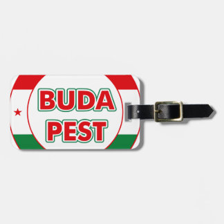 Budapest, circle, color luggage tag
