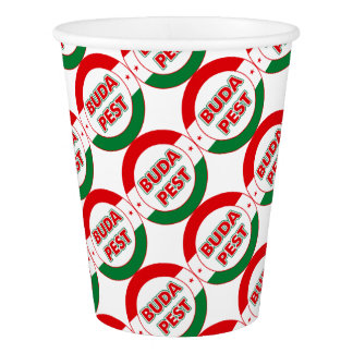 Budapest, circle, color paper cup