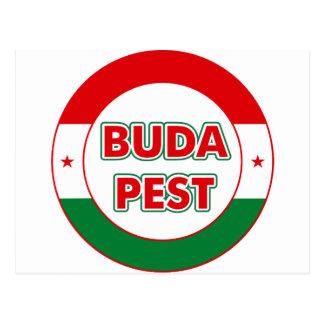 Budapest, circle, color postcard