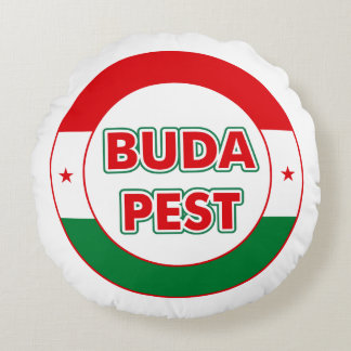 Budapest, circle, color round pillow