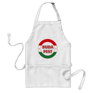Budapest, circle, color standard apron