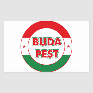 Budapest, circle, color sticker
