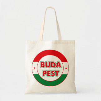 Budapest, circle, color tote bag