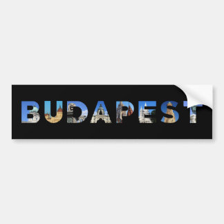 budapest city hungary landmark inside name text bumper sticker