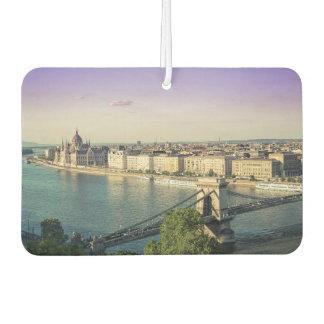 Budapest cityscape car air freshener