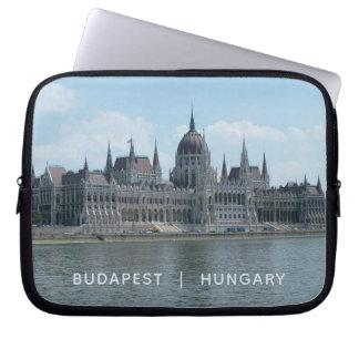 Budapest custom text laptop sleeves 3