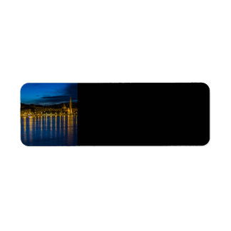 Budapest Danube River Reflection Water At Night PH Return Address Label