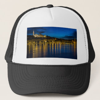 Budapest Danube River Reflection Water At Night PH Trucker Hat