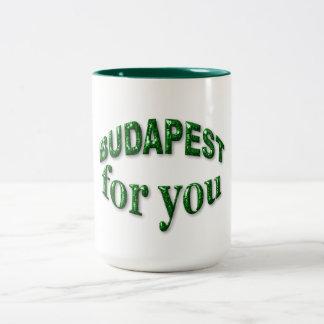 Budapest for You Two-Tone Coffee Mug