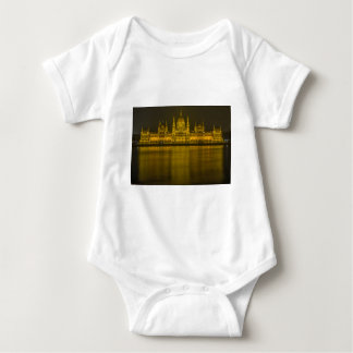Budapest hungarian parliament building baby bodysuit