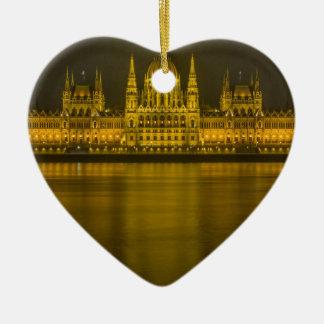 Budapest hungarian parliament building ceramic heart ornament