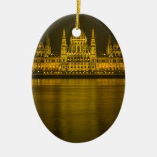 Budapest hungarian parliament building ceramic oval ornament