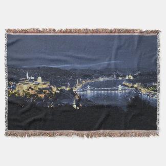 Budapest, Hungary At Night Throw Blanket