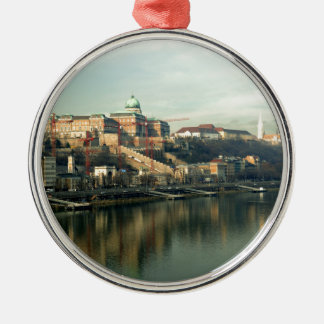 Budapest Hungary Castle Hill over the Danube Silver-Colored Round Ornament
