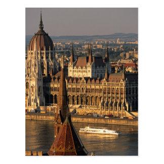 Budapest, Hungary, Danube River, Parliament Postcard