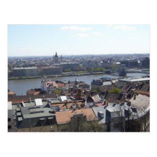 Budapest Hungary Danube River Postcard