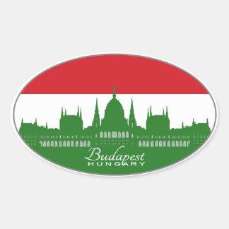 Budapest, Hungary, Magyarország (tricolor) Oval Sticker