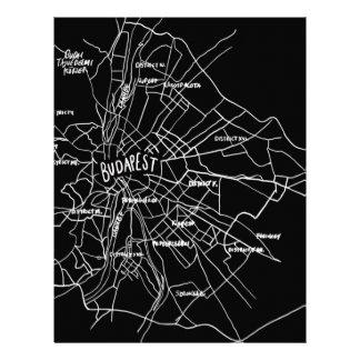 Budapest Hungary map Letterhead