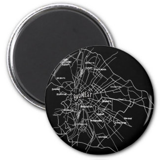Budapest Hungary map Magnet