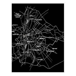 Budapest Hungary map Postcard