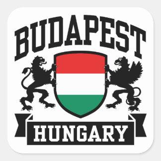 Budapest Hungary Square Sticker