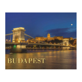 Budapest, Hungary Wood Canvases