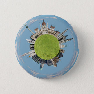 budapest little tiny planet travel tourism hungary 2 inch round button