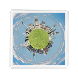 budapest little tiny planet travel tourism hungary acrylic tray